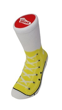 Silly Socks - Yellow Sneakers