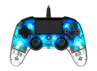 Nacon PS4 Illuminated Wired Gaming Controller - Light Blue for PS4 image