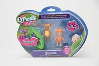 QPeas: Posable Mini Dolls - 3-Pack (Mira & Fraya)