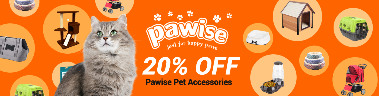 Save 20% off entire Pawise range!