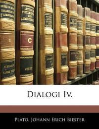 Dialogi IV. by Plato image