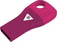 8GB Emtec Car Key USB 2.0 Flashdrive (Pink)