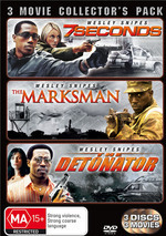 7 Seconds / Marksman / Detonator - 3 Movie Collector's Pack (3 Disc Set) on DVD
