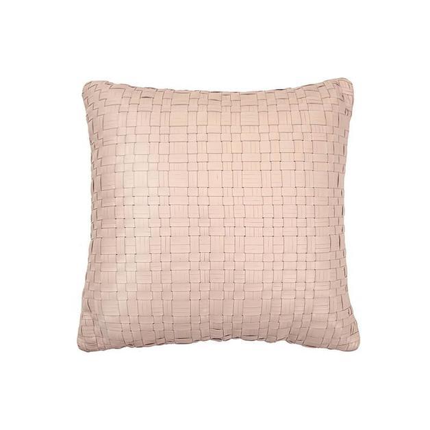 Bambury: Nevada Leather Cushion - Nude (43 x 43cm)