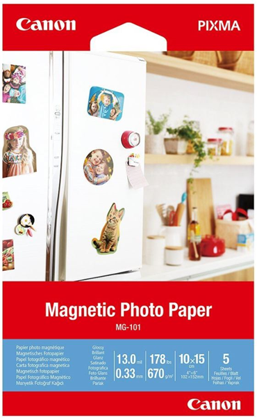 Canon MG-101 Pixma 4x6 Magnetic Photo Paper (5 sheets) image