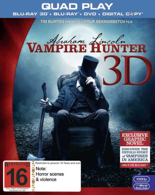 Abraham Lincoln: Vampire Hunter on Blu-ray, 3D Blu-ray