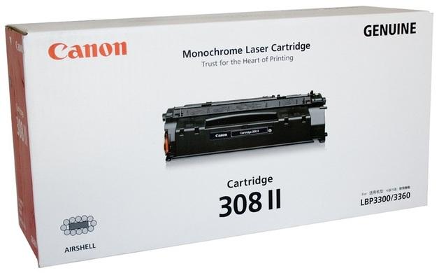 Canon CART308II Black Toner Cartridge for Canon LBP-3300