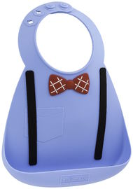 Make My Day: Silicon Baby Bib - Scholar Blue