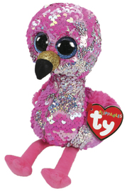 TY Beanie Boo: Flip Pinky Flamingo - Small Plush