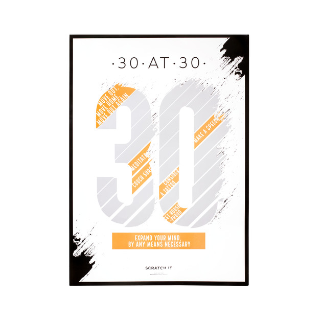 30@30 Scratch & Reveal Poster