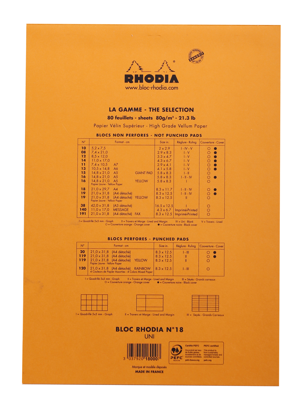 Bloc Rhodia Orange A4 80 Blank Sheets image