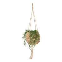 Nala Hanging Rattan Planter Basket – Large