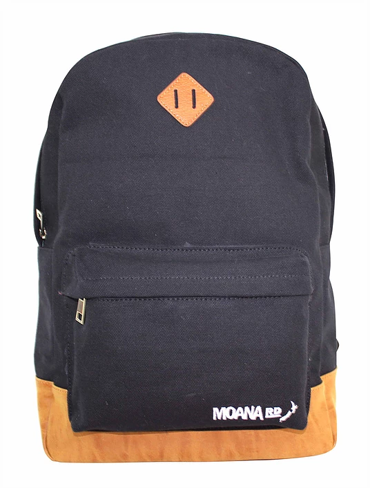 Moana Rd: Dunners Backpack - Black/Tan