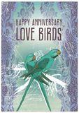 Papaya Happy Anniversary Card - Love Birds (Small)