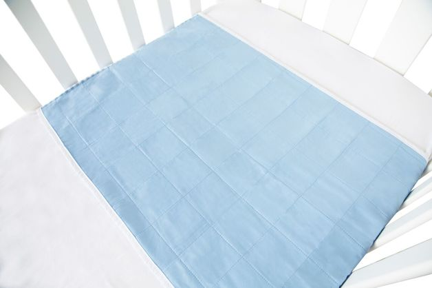 Brolly Sheet Cot Pad with Wings - Blue
