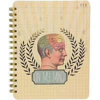 Papaya Spiral Notebook - On My Mind