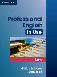 Professional English in Use Law by Gillian D. Brown image