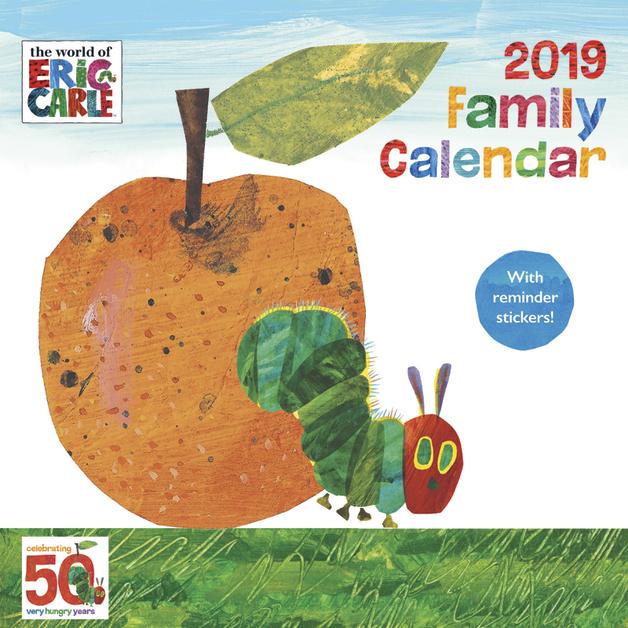 The Hungry Catterpillar 2019 Wall Calendar