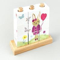 Floss & Rock: Wooden Cube Puzzle - Bunnies