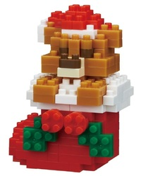 nanoblock: Holiday Series - Teddy Bear & Stocking
