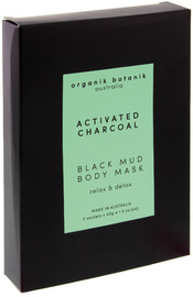 Organik Botanik Activated Charcoal Black Mud Body Mask (3x40g)