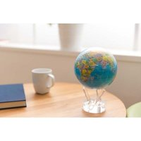 MOVA: Self Rotating Globe - Blue with Political Map (11.5cm) image