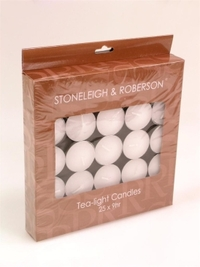 Stoneleigh & Roberson Tealight Candles - 9 Hour (25 Pack)