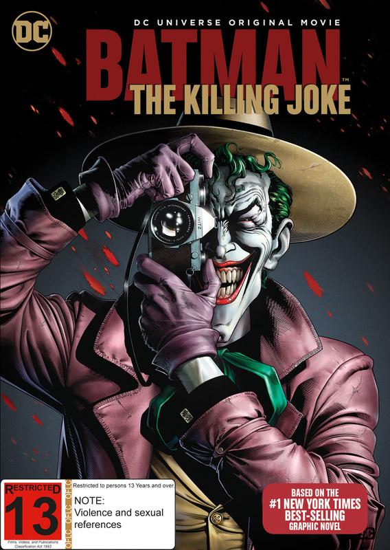 Batman: The Killing Joke on DVD