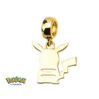 Pokemon Pikachu Gold Sterling Silver Silhouette Charm