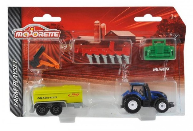 Majorette: Farm Playset - (Tractor & Equipment)