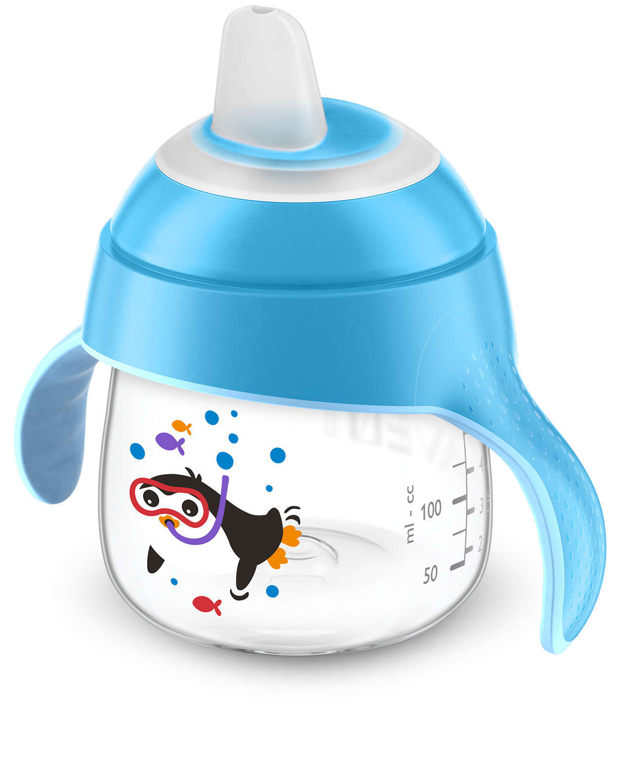 Philips Avent Sip, No Drip Cup - 200ml 6m+ (Blue) image