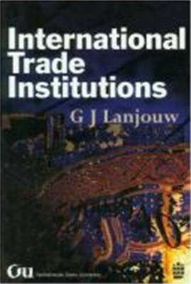 International Trade Institutions by G.J. Lanjouw image