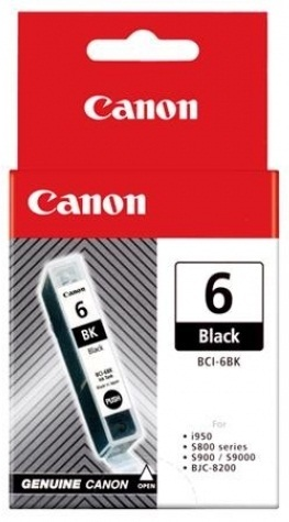 Canon Ink Cartridge - BCI6BK (Black) image