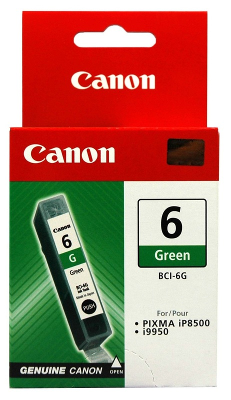 Canon Ink Cartridge BCI-6G Green (100 pages)