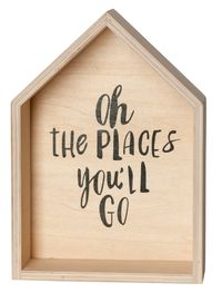 General Eclectic Wall Plaque - Oh The Places You'll Go