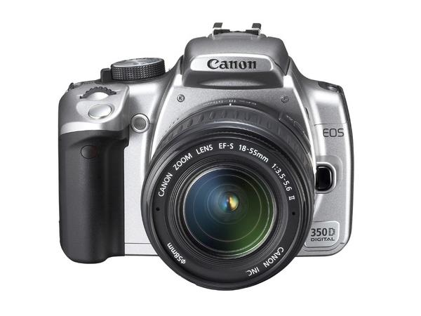 Canon Digital SLR Camera EOS 350D 8MP With 18-55 Lens Silver image