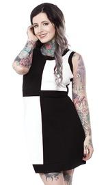 Sourpuss Mini Mod Dress - Black & White (Small)