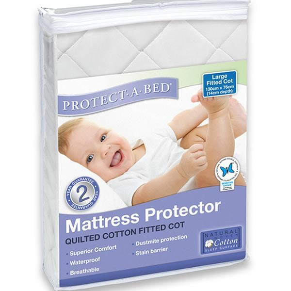 Protect-a-Bed: Fitted Quilted Universal Cot Mattress Protector