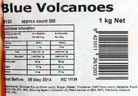 Blue Volcanoes Lollies 1kg - Rainbow Confectionery image