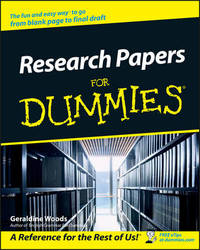 Research Papers For Dummies by Geraldine Woods