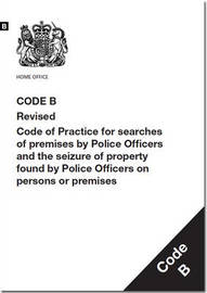 Police and Criminal Evidence Act 1984 by Great Britain Home Office
