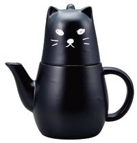 Black Kitty Tea Set (For One)
