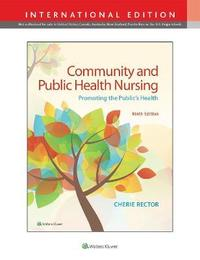 Community & Public Health Nursing by Cherie Rector
