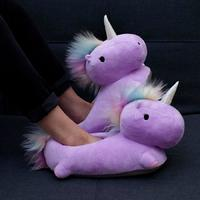 Unicorn USB Heated Slippers (Purple)