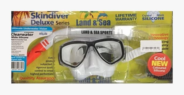 Clearwater White Mask/Snorkel Set