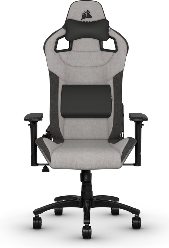 Corsair T3 RUSH Fabric Gaming Chair - Grey & Charcoal for