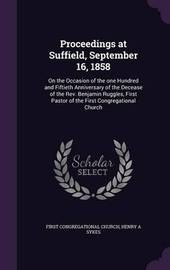 Proceedings at Suffield, September 16, 1858 by First Congregational Church