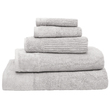 Bambury Costa Cotton Bath Sheet (Silver)