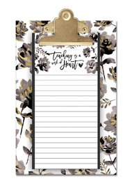 Lady Jayne: Small Clipboard With Notepad - Teaching is a Work of Heart