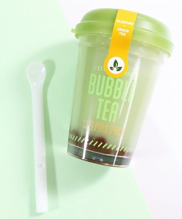 Etude House - Bubble Tea Sleeping Pack Green Tea (100G)